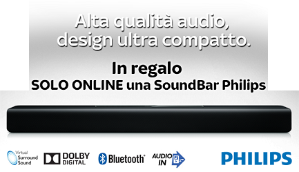 FINO AL 24 CON SKY IN REGALO LA SOUNDBAR DI PHILIPS. A CASA COME AL CINEMA!