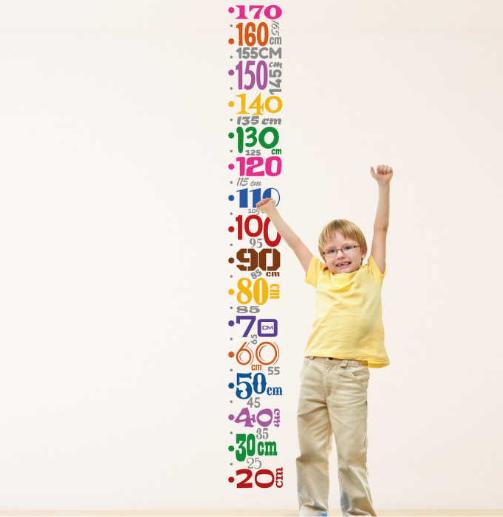 adesivo metro per misurare altezza