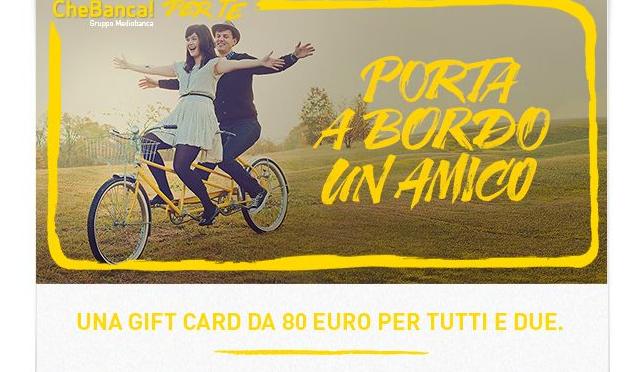 Apri conto corrente CHE BANCA! e ricevi 80 euro in regalo