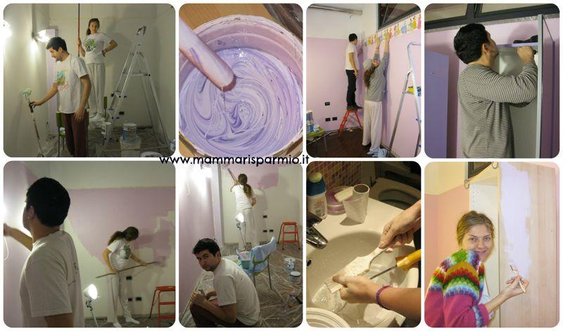 Idee Per La Camera Da Letto Fai Da Te : Stanzetta per il bebè idea fai da te wall sticker con le