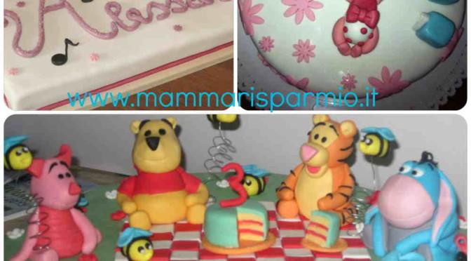 torte decorate in pasta da zucchero
