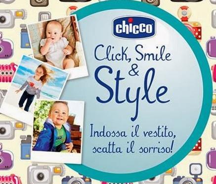 CONCORSO CLICK AND SMILE BY CHICCO, BUONI DA 200 EURO E TUO FIGLIO TESTIMONIAL