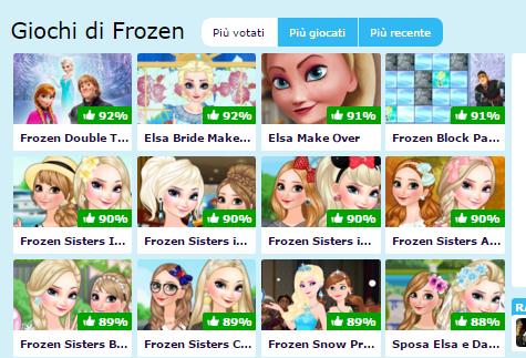 giochi principessa frozen