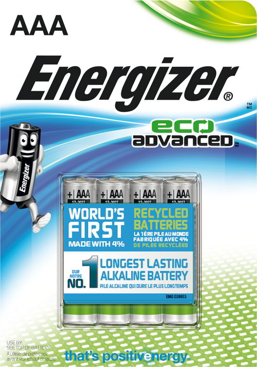 pile energizer riciclate