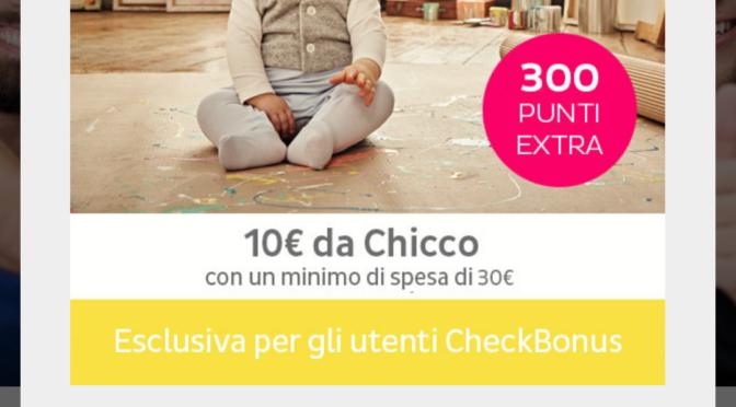 SCARICA L'APP RISPARMIO CHECKBONUS E RICEVI 10 EURO DA CHICCO
