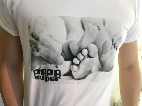 magliette con foto dei figli