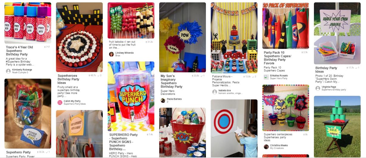 idee per festa super eroi