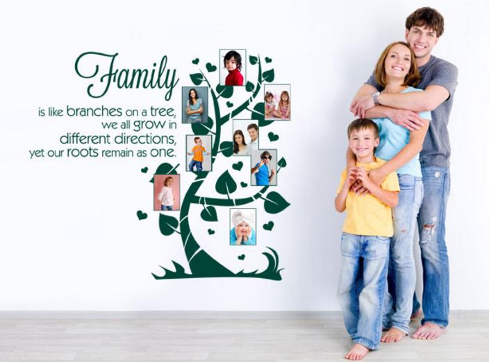 sticker per muro famiglia