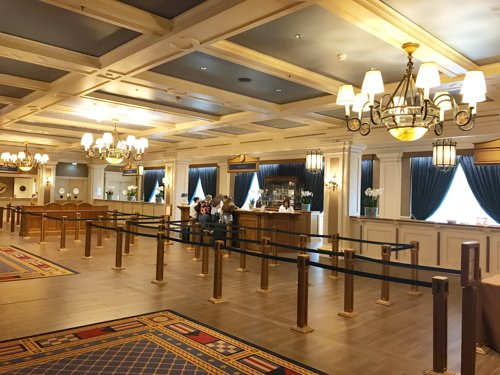 reception hotel disney
