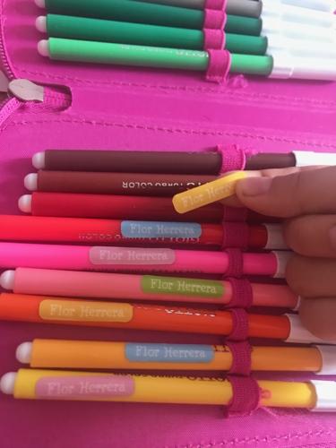 etichette per matite e pennarelli