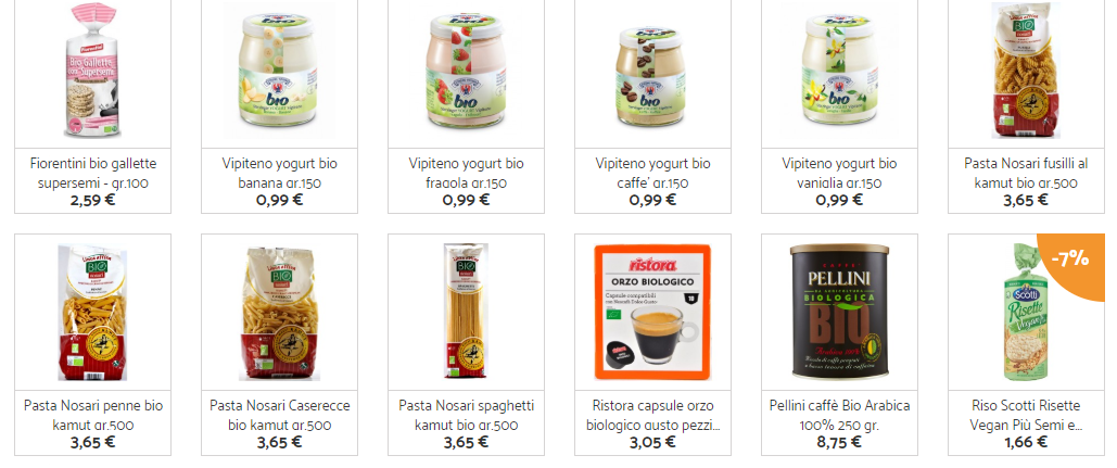 cibo biologico online