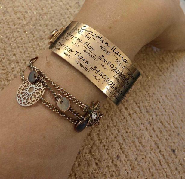 braccialetto nascita gioiello
